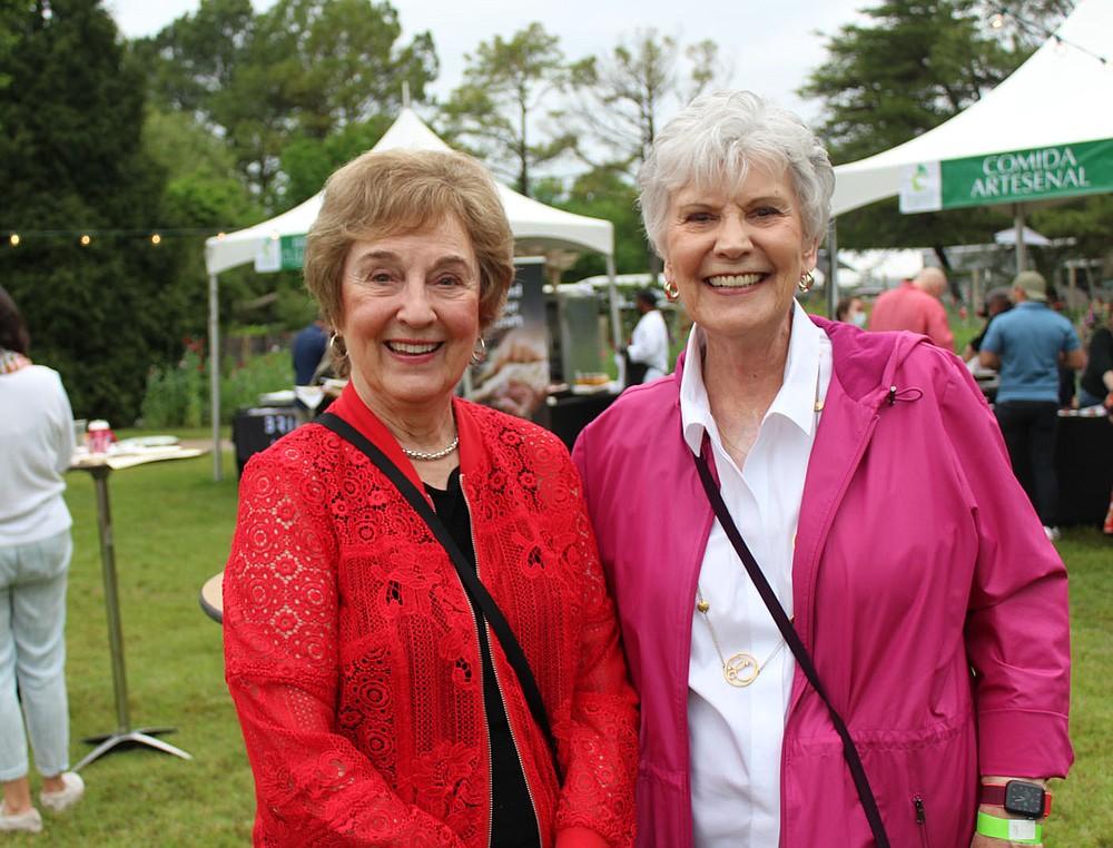 Gaye Cypert (left) and Susan Rieff help support the Botanical Garden of the Ozarks.  (NWA Democrat-Gazette/Carin Schoppmeyer)