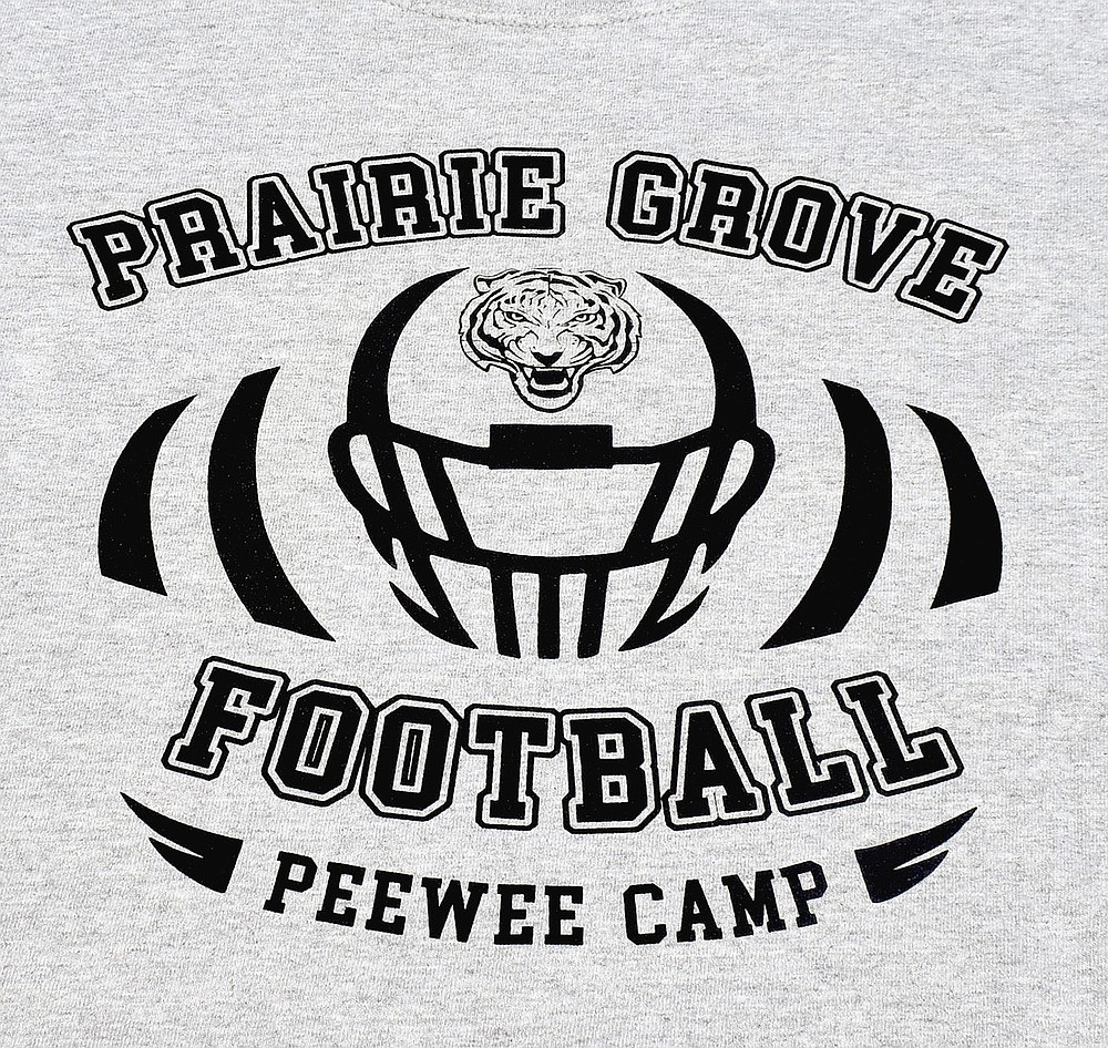 MARK HUMPHREY  ENTERPRISE-LEADER/Prairie Grove assistant varsity and head junior high football coach John Elder organizes an annual pee wee football camp.