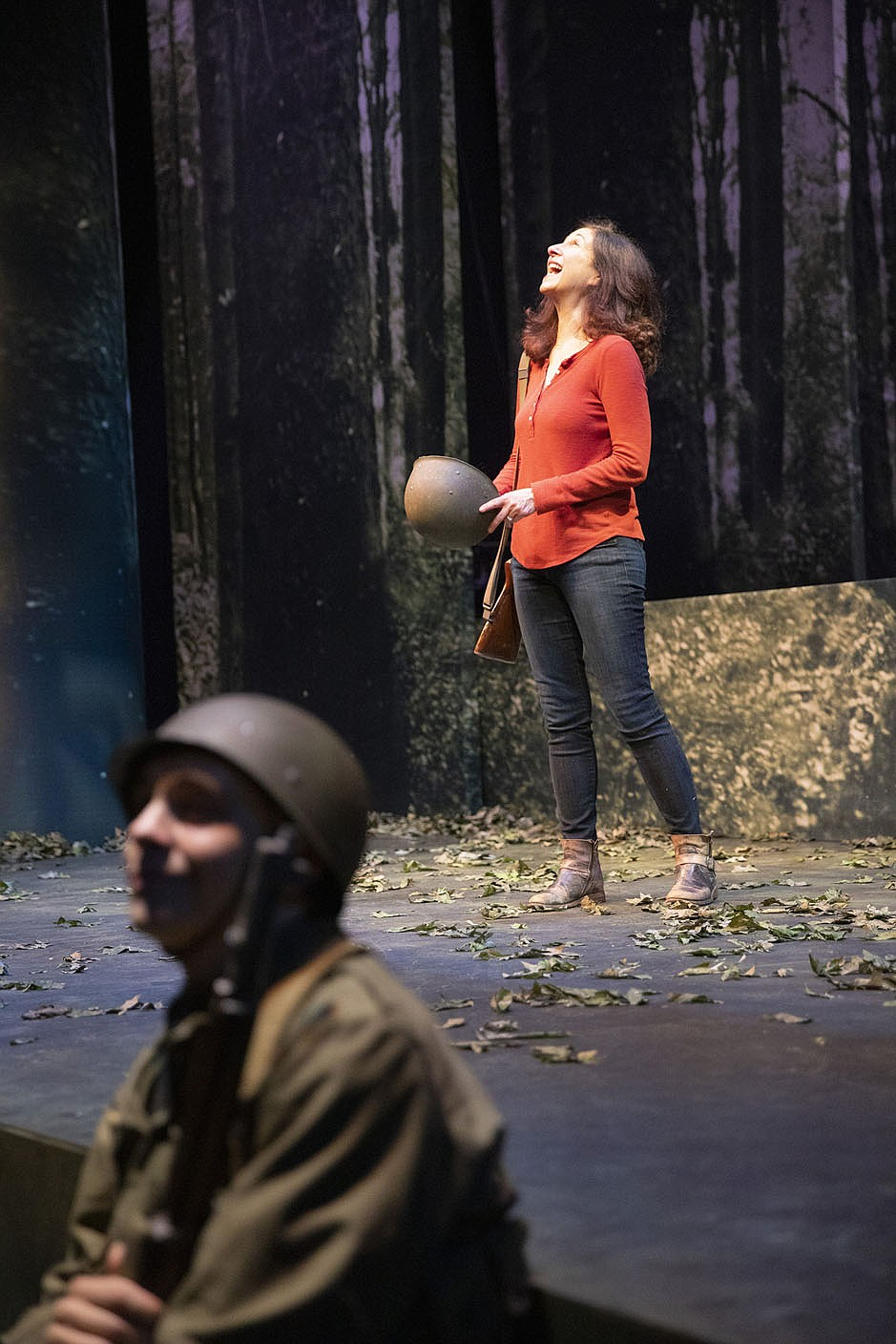 """""""In some respects, every play is personal,"""" says """"My Father's War"""" playwright Robert Ford of the challenges of writing such a deeply personal play. """"It's my feelings, my world view, my values on display up there. That said, this one is acutely personal. At a certain point in the writing of it, I had to remember that the character called Amy Herzberg in the play is ultimately a fiction. I had to stop asking myself, 'What would Amy do?' and instead make decisions about how 'Amy' would behave, what choices she would make, in service of the overall structure of the play. That aspect was incredibly difficult (and, in fact, I still mix up the two Amys in my head). What made this easy was the trove of amazing stories handed to me by my dad-in-law — vaudevillian, ironic, heartbreaking, deeply insightful. All I had to do was pick my faves and line them up in some sensible way, while discovering what it was that I wanted to say – which became the story that frames the play.""""  (Courtesy Photo/Wesley Hitt)"""