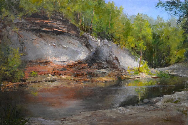 """Judy Maurer says """"many years ago, I saw a painting in Tulsa by the Russian trained artist Cyrus Afsary. It was a simple forest scene with magical light. I knew that's how I wanted to paint.""""  (Courtesy Image)"""
