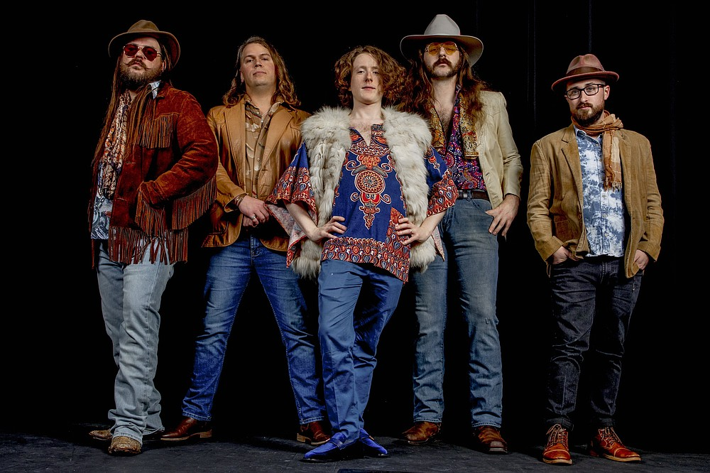 Little Rock rock band de France: Drew DeFrance (from left), Daniel Stratton Curry, Charlie Askew, Connor Roach and Mitchell Lowe, perform Friday in Hot Springs and Saturday in Dardanelle. (Special to the Democrat-Gazette/David Yerby)
