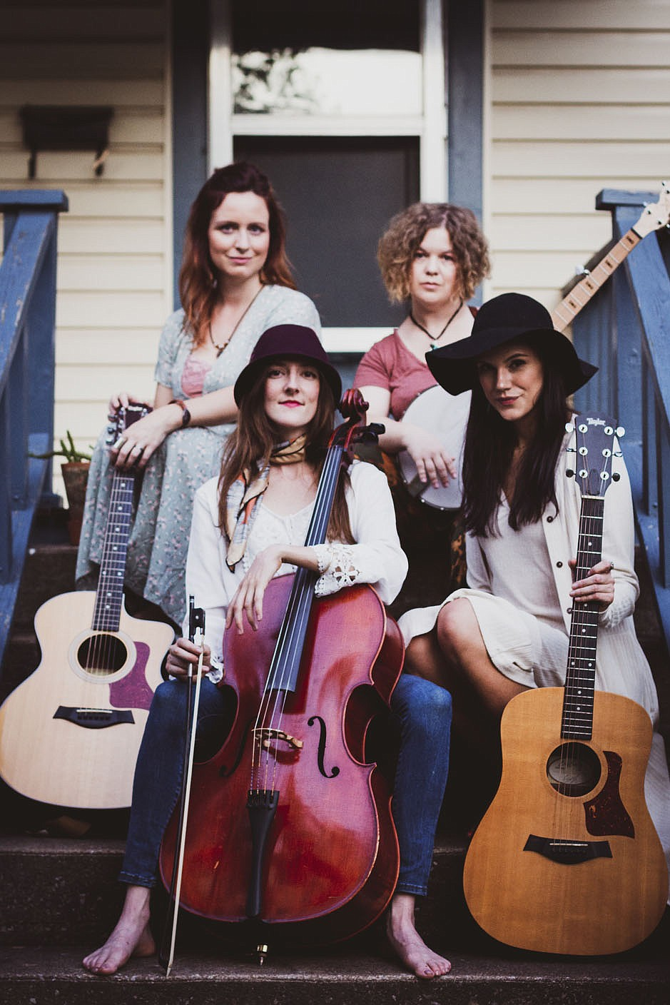 """Harmony-rich Fayetteville folk band Dandelion Heart will perform during the Gulley Park Concert Series July 29 and during Terrific Tuesdays at the Botanical Garden of the Ozarks on Aug. 17. The American foursome released their debut album together, """"Retrospect,"""" Nov. 8.  (Courtesy Photo)"""