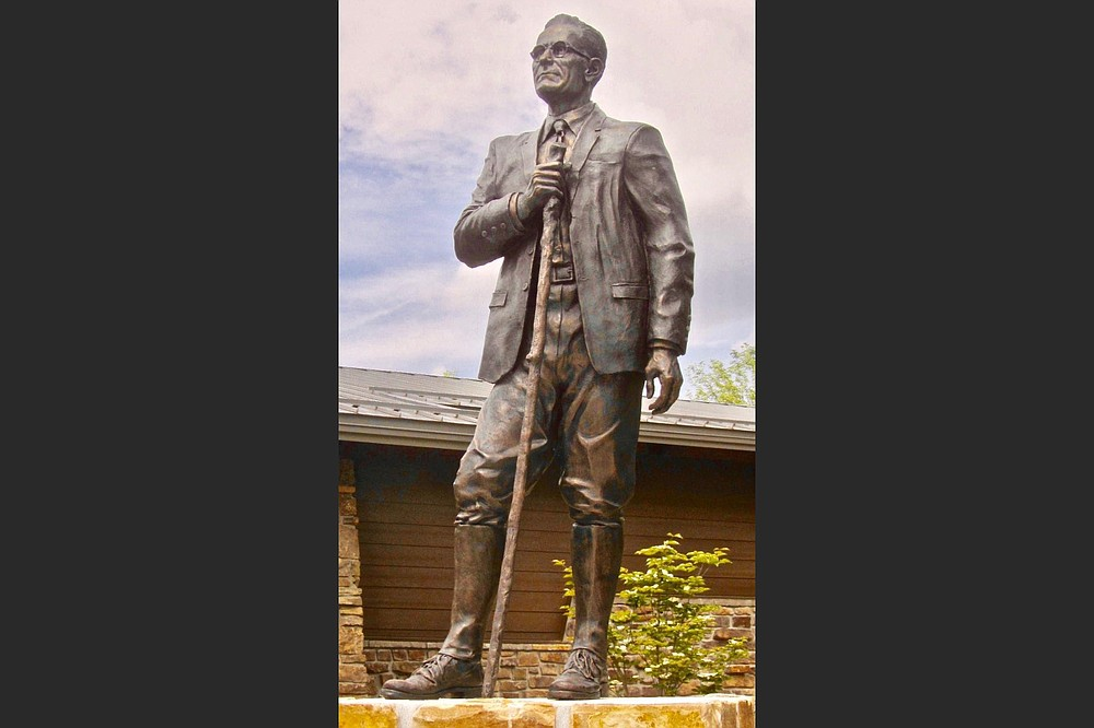 A life-size statue honors Dr. T.W.Hardison outside the visitor center. (Special to the Democrat-Gazette/Marcia Schnedler)