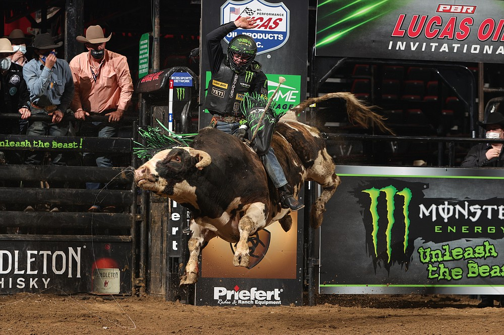 Hamburg, Ark.'s own Chase Outlaw will be among the bullriders at North Little Rock's Simmons Bank Arena in August. (Special to the Democrat-Gazette/Andy Watson, BullStock Media)