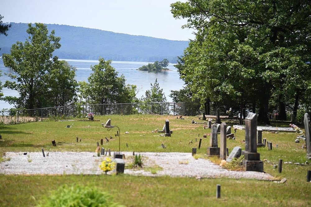 Buckville cemetery overlooks Lake Ouachita, where Buckville once stood.  - The Sentinel-Record/Tanner Newton