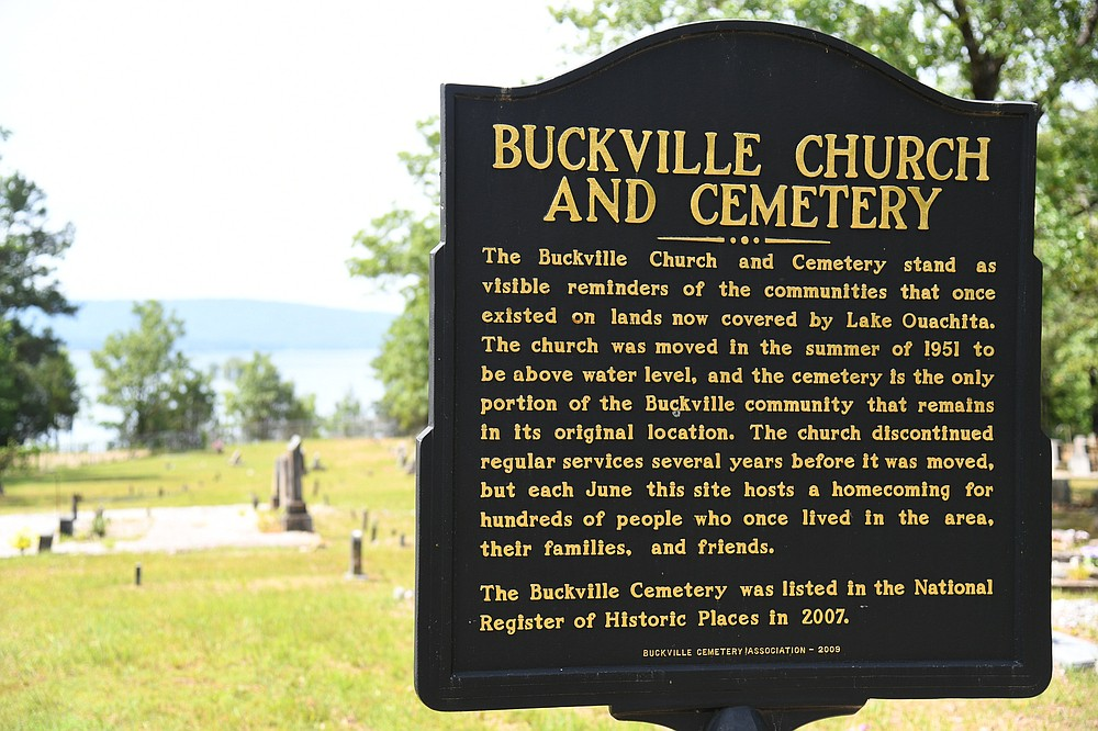 The Buckville Church and Cemetery are the only remaining relics of the community of Buckville. - The Sentinel-Record/Tanner Newton