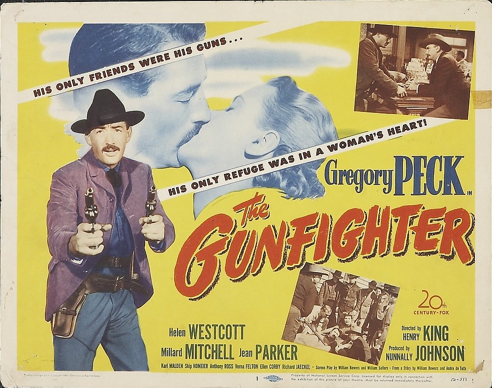 """The movie poster for """"The Gunfighter"""" (1950)"""