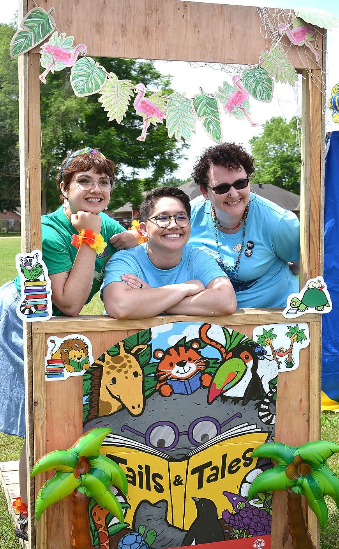 From left: Ashdon Wilson, Programming and Social Media Coordinator; Alex Wright, library director; and Nikoya Mills, library clerk.
