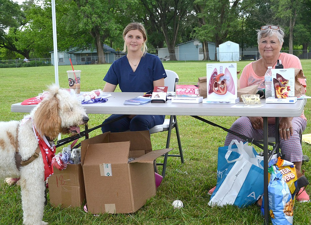 The Pea Ridge Veterinary Clinic hosted a booth at the Library's Summer Reading Kickoff bash Saturday, June 5.