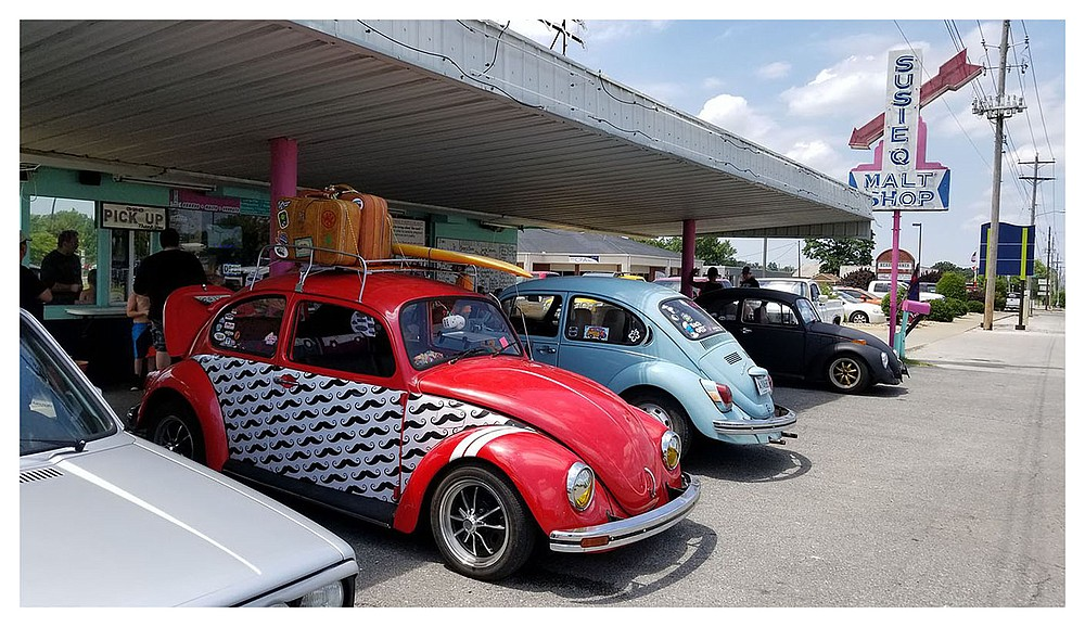 Volkswagens will gather Saturday at the Susie Q Malt Shop in Rogers to celebrate its 61st birthday.  (Special to NWADG/Kat Robinson)
