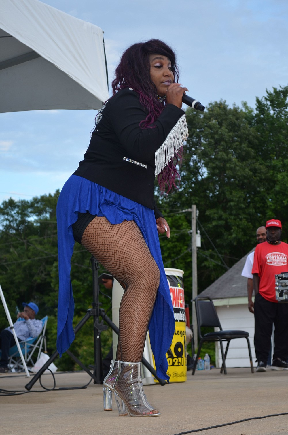 Summer Wolfe rocked the stage with her saucey Southern Soul sounds. (Special to The Commercial/Richard Ledbetter)