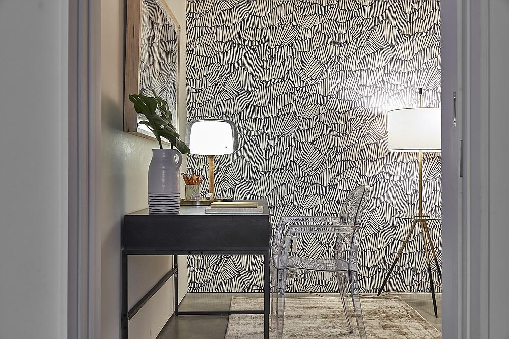 Removal wallpaper provides a graphic alternative to paint. (Scott Gabriel Morris via TNS)
