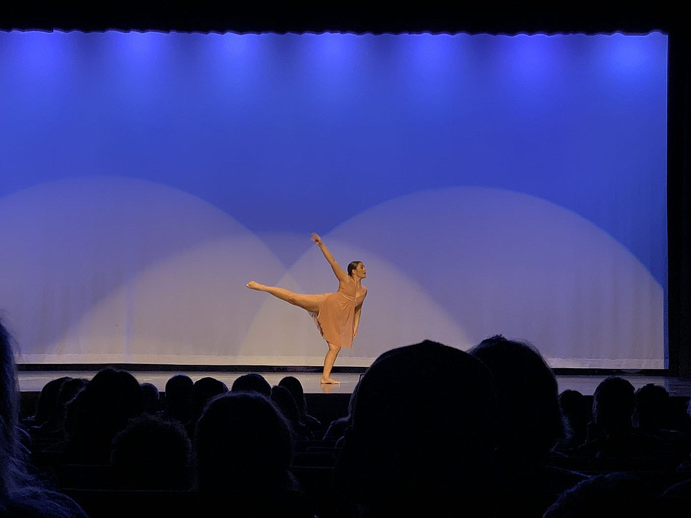"""ALEXUS UNDERWOOD/SPECIAL TO MCDONALD COUNTY PRESS Rolland performing her senior solo at Anderson Dance Academy's """"Come Together"""" recital. Rolland's senior solo was the last solo she performed as part of the Anderson Dance Academy."""