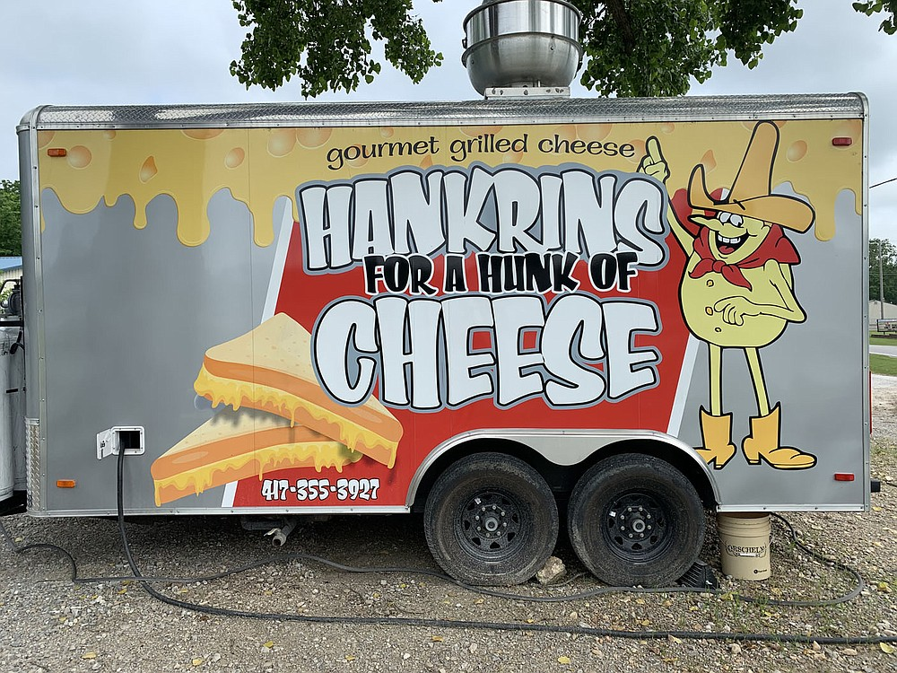 ALEXUS UNDERWOOD/SPECIAL TO MCDONALD COUNTY PRESS Hankrins For a Hunk of Cheese offers grilled cheese sandwiches, other types of sandwiches, french fries, and mozzarella sticks. Hankrins For a Hunk of Cheese operates solely out of Pineville.