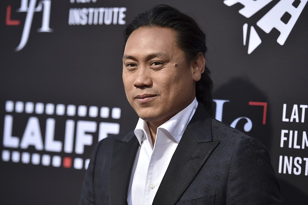 """Jon M. Chu arrives at a screening of """"In the Heights"""" during the Los Angeles Latino International Film Festival at TCL Chinese Theatre on Friday, June 4, 2021, in Los Angeles. (Photo by Richard Shotwell/Invision/AP)"""