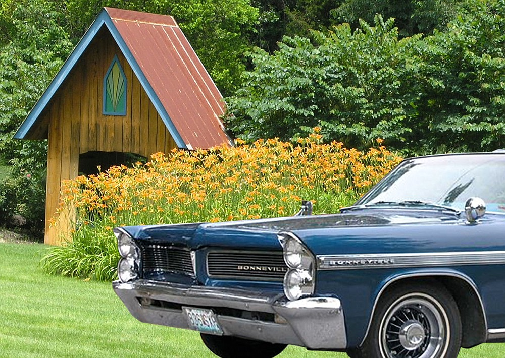 Vintage cars, collectibles and small-town ambiance add to the lush grounds at Simple Pleasures, open to the public for the annual Lily Festival June 19-20.  (Courtesy Photo/Duane Coleman)