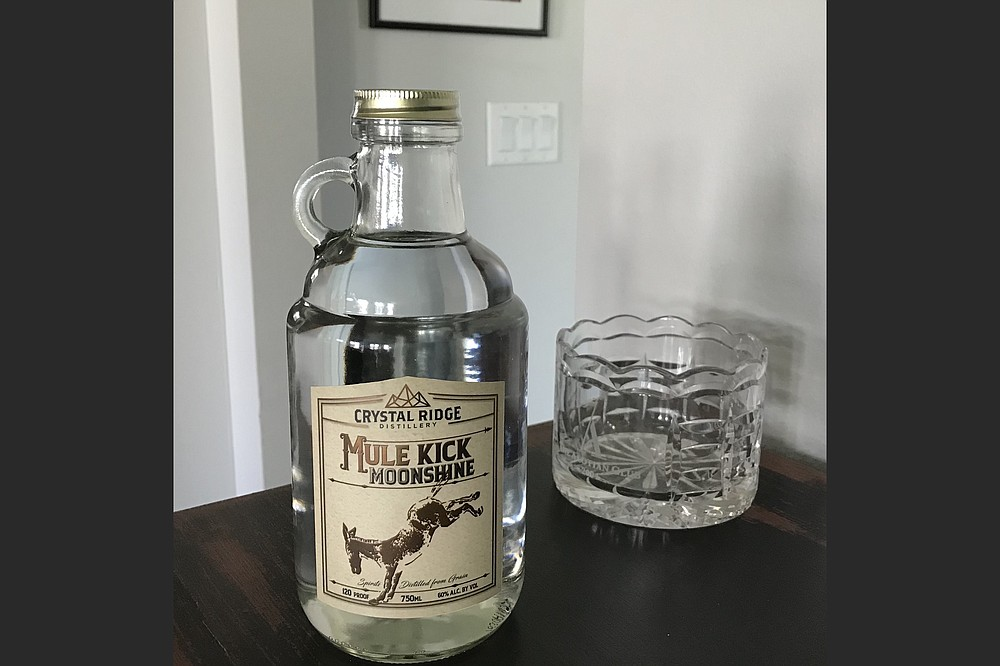 This Mule Kick moonshine hails from Hot Springs' Crystal Ridge Distillery — which currently offers 12 favored 'shines, all at 70 proof, and two unflavored products including 120-proof Mule Kick.