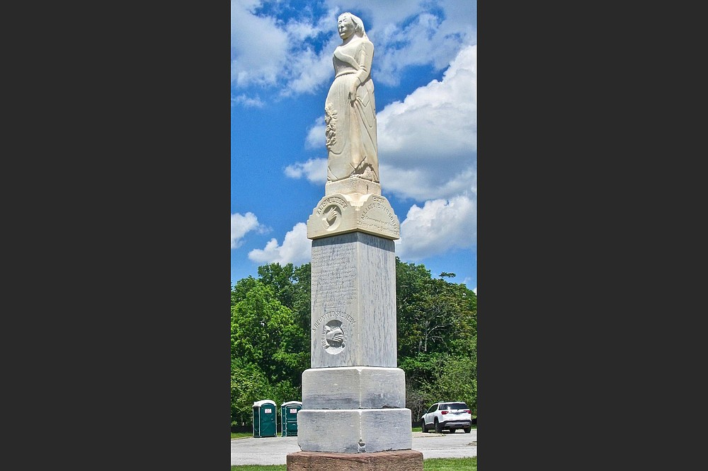 A post-war monument is focused on reconciliation between veterans of Pea Ridge. (Special to the Democrat-Gazette/Marcia Schnedler)