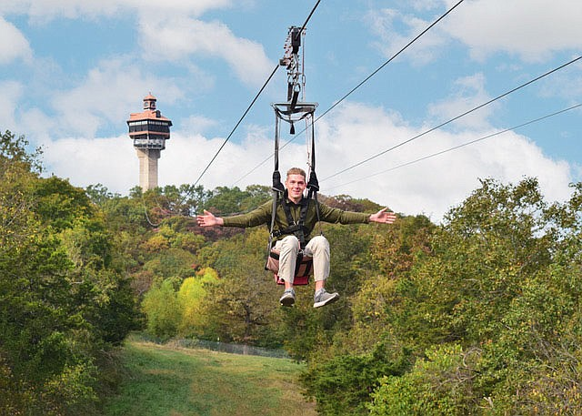 At Shepherd of the Hills, adventurous guests can choose between the Vigilante Extreme Zip-Rider and a zipline canopy tour.  (Courtesy Photo/Shepherd of the Hills)