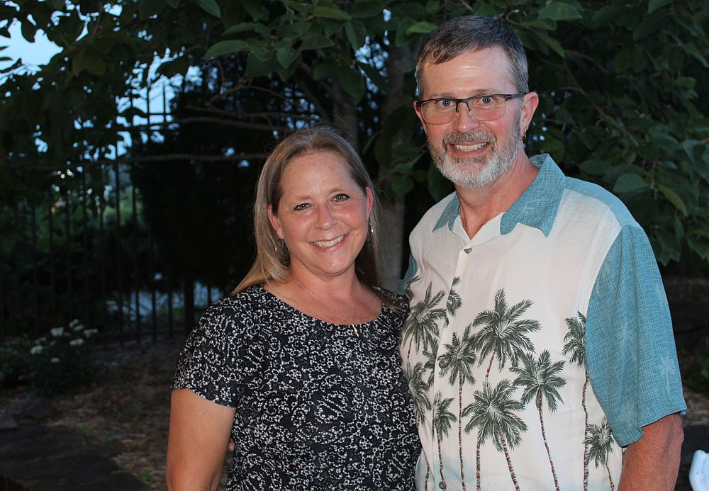 Melissa and Steve Hotchkiss, help support the Jackson L. Graves Foundation.  (NWA Democrat-Gazette/Carin Schoppmeyer)