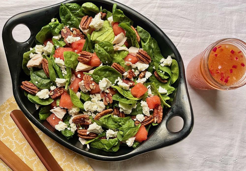 Watermelon, Chicken and Pecan Salad (Arkansas Democrat-Gazette/Kelly Brant)