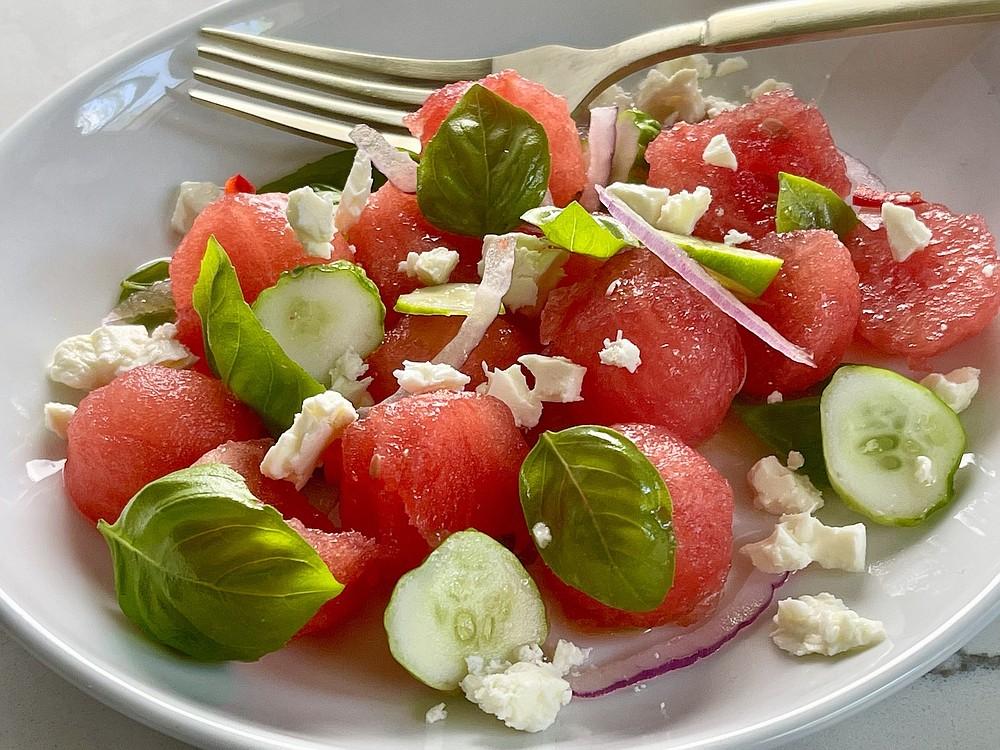 Watermelon Salad (Arkansas Democrat-Gazette/Kelly Brant)