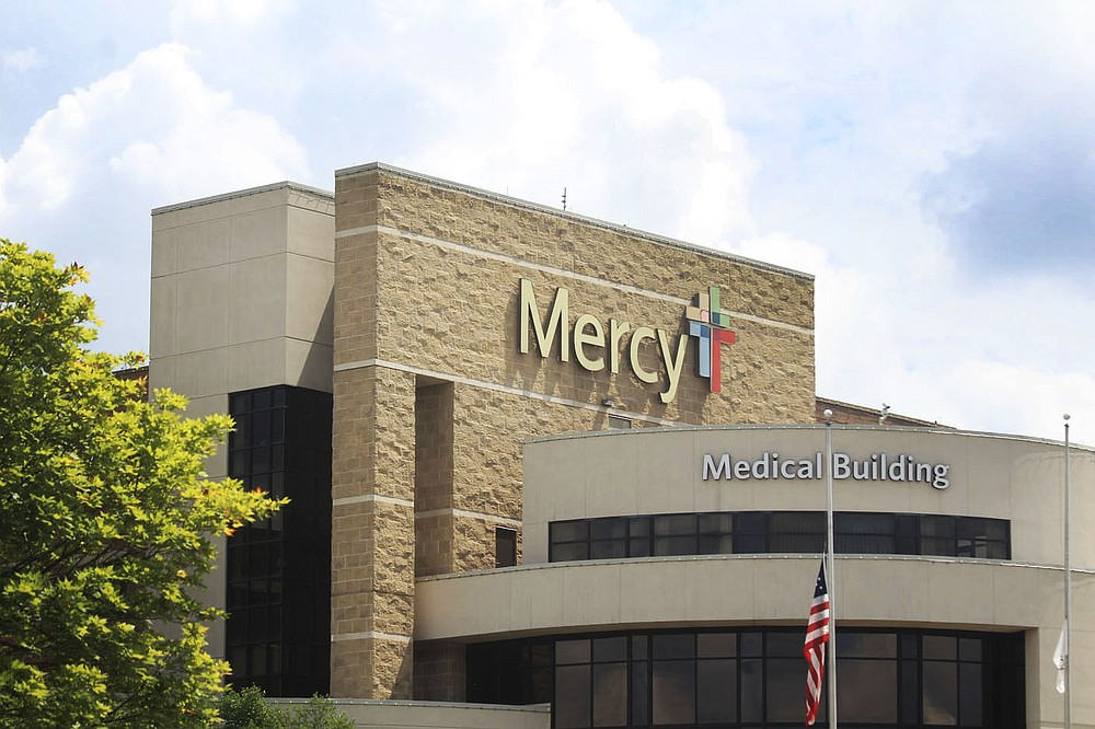 The outside of Mercy Fort Smith, 7301 Rogers Ave., is seen Wednesday, June 30, 2021.