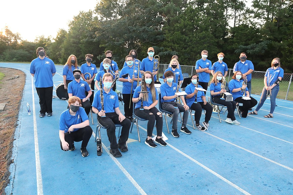 The Jessieville band at a game. - File photo by The Sentinel-Record