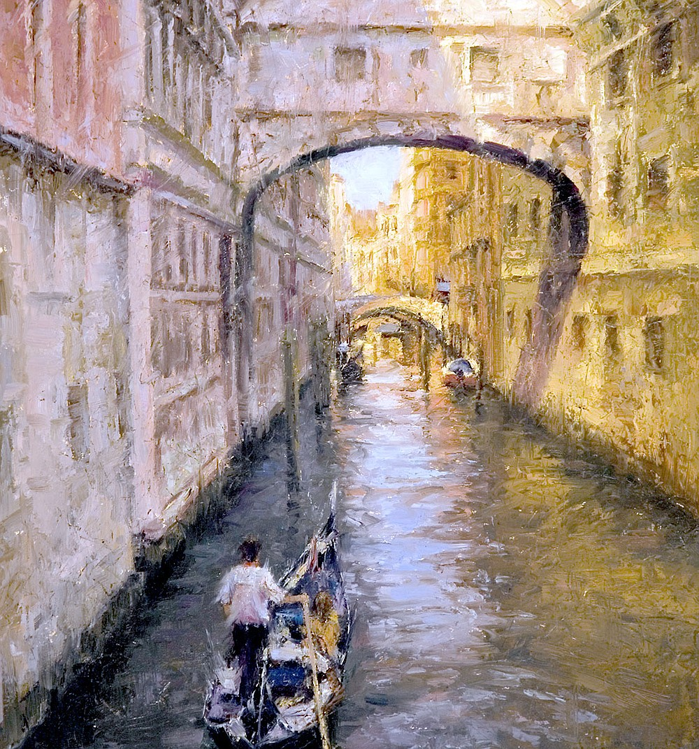 """Photo submitted. """"The Bridge of Sighs,"""" painted by Todd A. Williams is a limited edition.  art print signed and numbered Giclee Canvas with a Certificate of Authenticity which is one of two works of art, Williams is donating to Main Street Siloam Springs for the Main Event LIVE auction."""