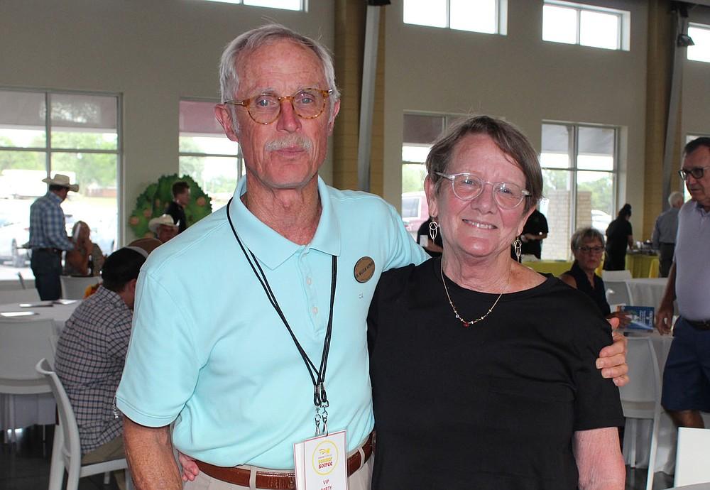 Malcolm and Ellen Hayward enjoy the Summer Soiree. (NWA Democrat-Gazette/Carin Schoppmeyer)