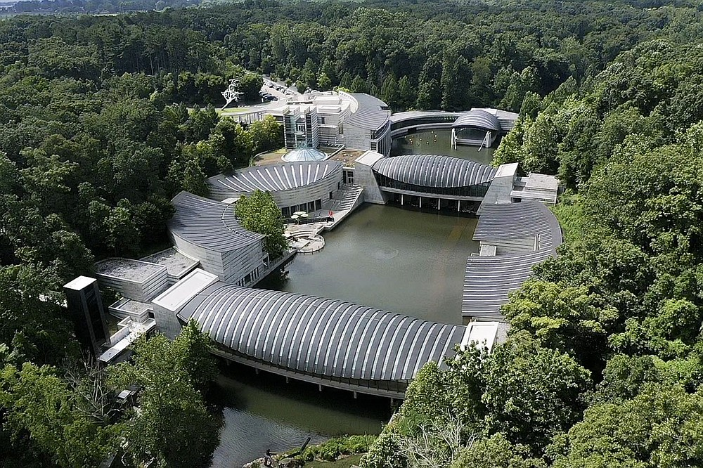 The Crystal Bridges Museum of American Art is shown, Sunday, June 27, 2021 in Bentonville. Check out nwaonline.com/210711Daily/ for today's photo gallery.  (NWA Democrat-Gazette/Charlie Kaijo)