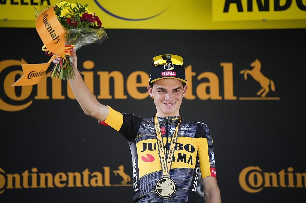 Après la quinzième étape du Tour de France cycliste, la course de 191,3 kilomètres (118,9 milles) débute à Cerret et se termine le dimanche 11 juillet 2021 à Andorre, La-Vieille.  .  (AP Photo / Christophe Ena)