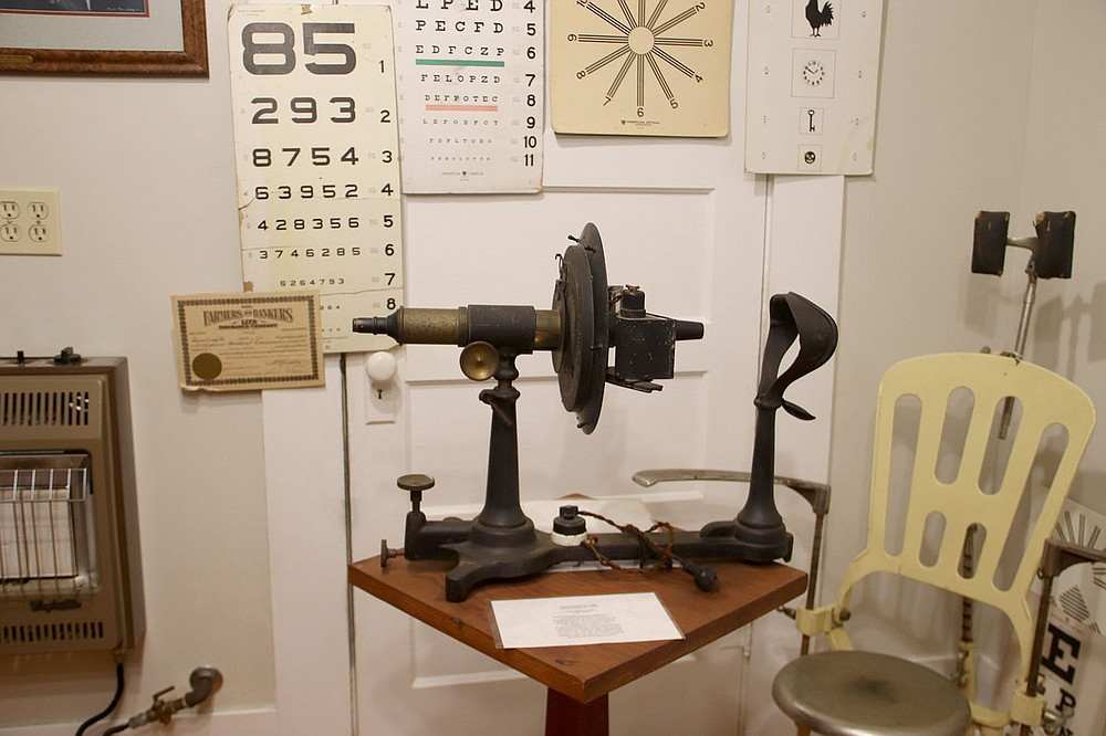 LYNN KUTTER ENTERPRISE-LEADER One of the exhibits at the Arkansas Country Doctor Museum shows equipment and materials that would have been used from the optometry field of medicine.
