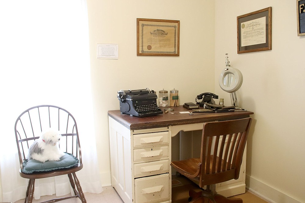 LYNN KUTTER ENTERPRISE-LEADER A typical country doctor's office would have included a typewriter and a rotary-dial telephone.