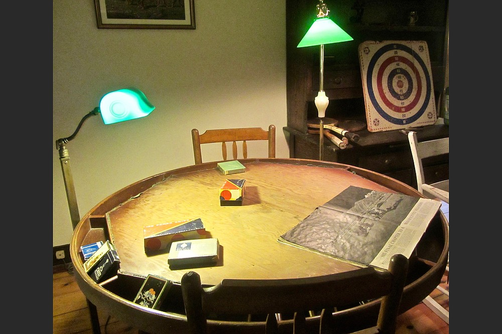 Ernest Hemingway enjoyed poker as well as darts in his in-laws' barn loft. (Special to the Democrat-Gazette/Marcia Schnedler)