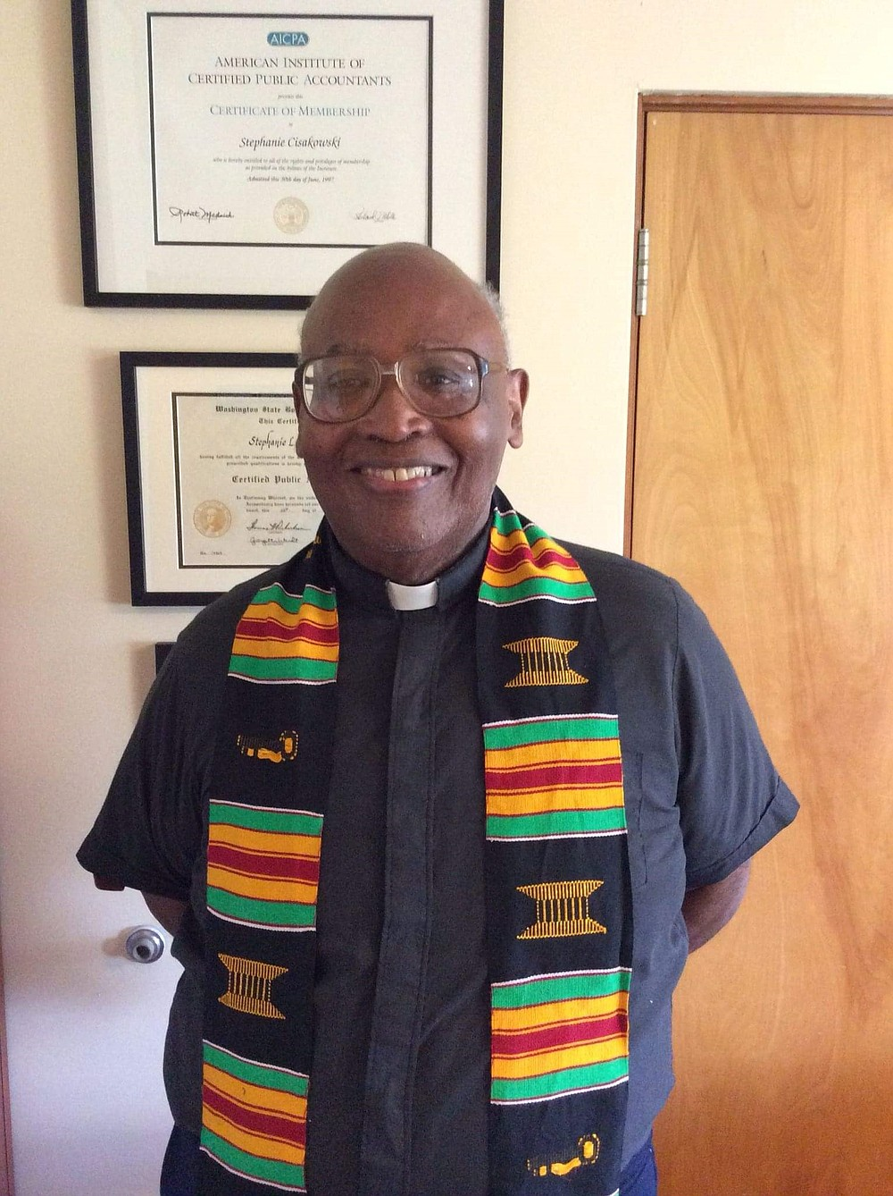 Joseph Oneal McGowan died at Sacred Heart at age 80. The Seattle Archdiocese's first Black priest, he inspired students with his booming voice and righteous outrage over racial injustice. (Keith Grate/Courtesy Sacred Heart Jesuit Center/TNS)