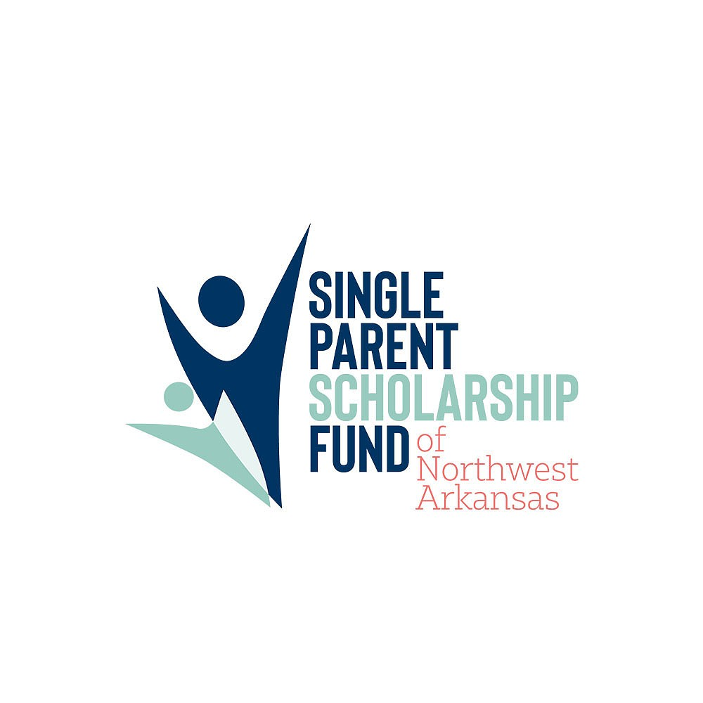 Single Parent Scholarship Fund of Northwest Arkansas and Single Parent Scholarship of Benton County celebrated their merger July 7. The nonprofit organization's new logo is depicted.