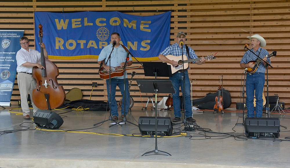 """Graham Thomas/Herald-Leader Band """"About the Father's Business"""" plays at the """"Celebrating Siloam Springs First Responders"""" program Saturday hosted by the Siloam Springs Rotary Club at the Chautauqua Amphitheater in Memorial Park."""