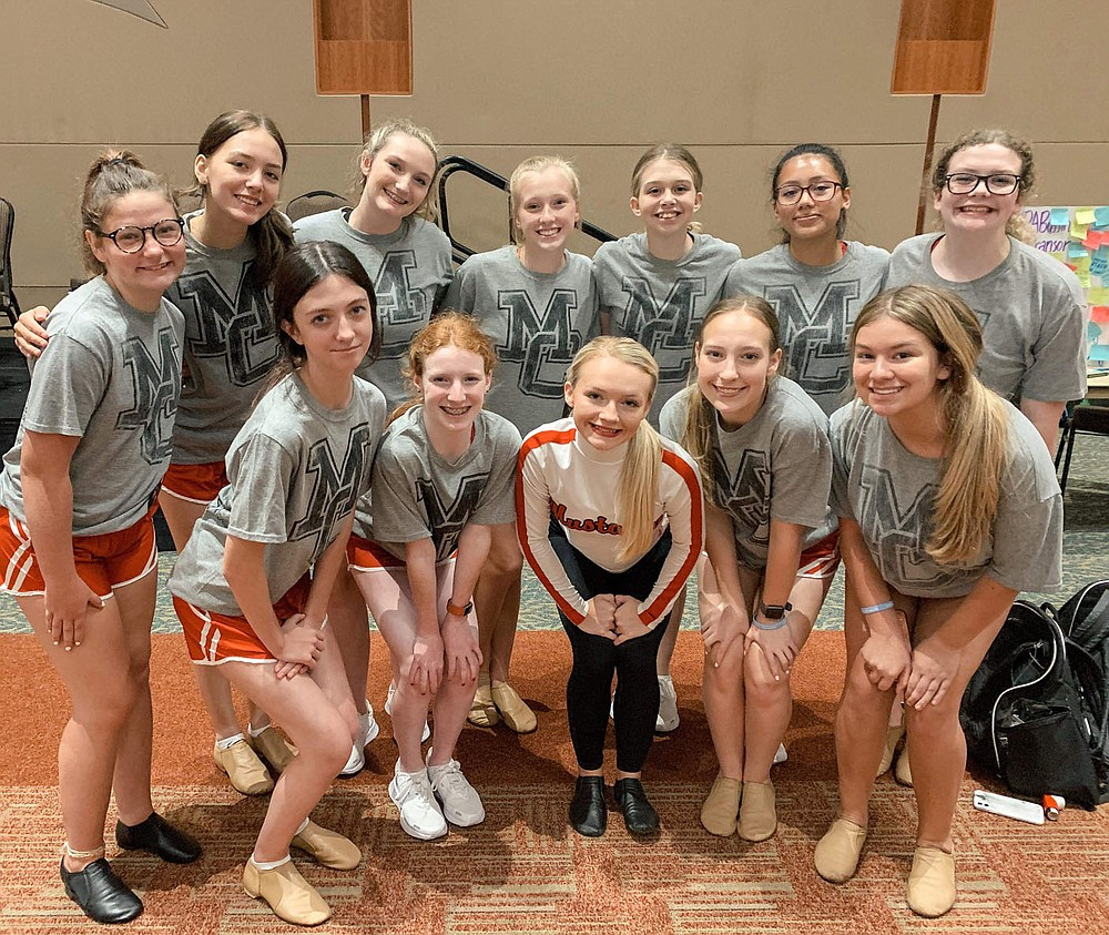 COURTESY PHOTO Kimbrough with her fellow MC Pom Dancers. Kimbrough said her team pushes her to be the best that she can be.