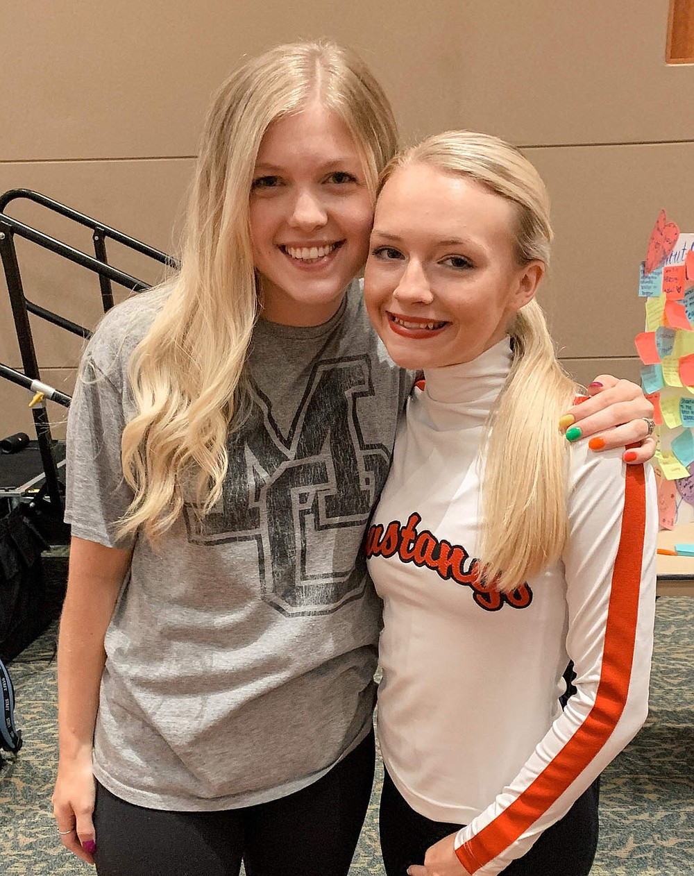 COURTESY PHOTO Kimbrough and her coach, Eden LeGrand. LeGrand said Kimbrough is a role model in the MC Pom team, and hopes additional students will audition to be All-American next year.