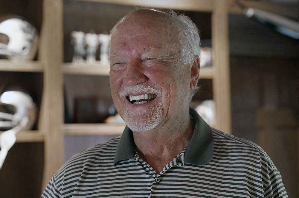Former Dallas Cowboys and NFL football great Cliff Harris laughs during an interview at his home in North Dallas, Wednesday, June 30, 2021. Harris and receiver Drew Pearson, who also will be inducted this year as part of the class of 2021, are the first undrafted Cowboys among their 15 players in the Hall of Fame.(AP Photo/LM Otero)