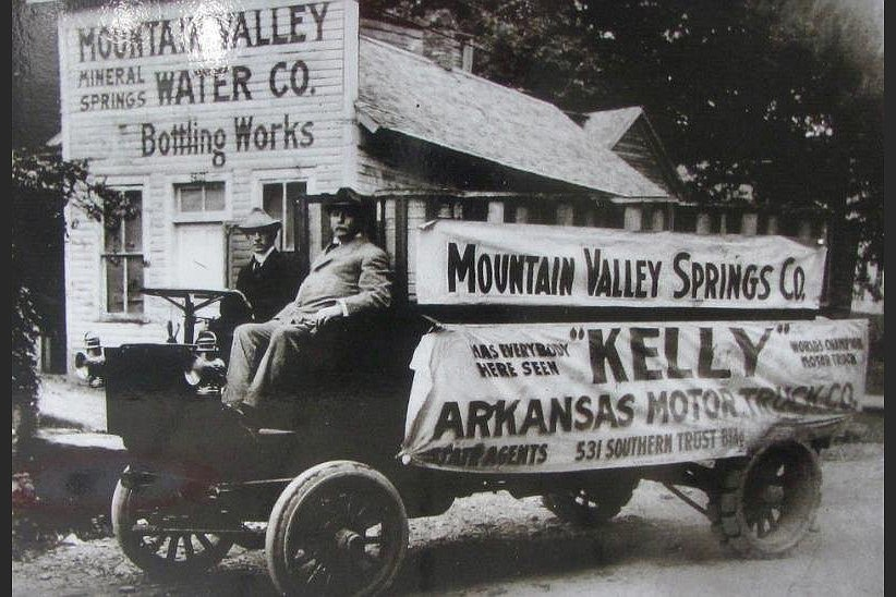 A vintage photograph shows Mountain Valley Spring Water's bottling plant north of Hot Springs. (Special to the Democrat-Gazette/Marcia Schnedler)