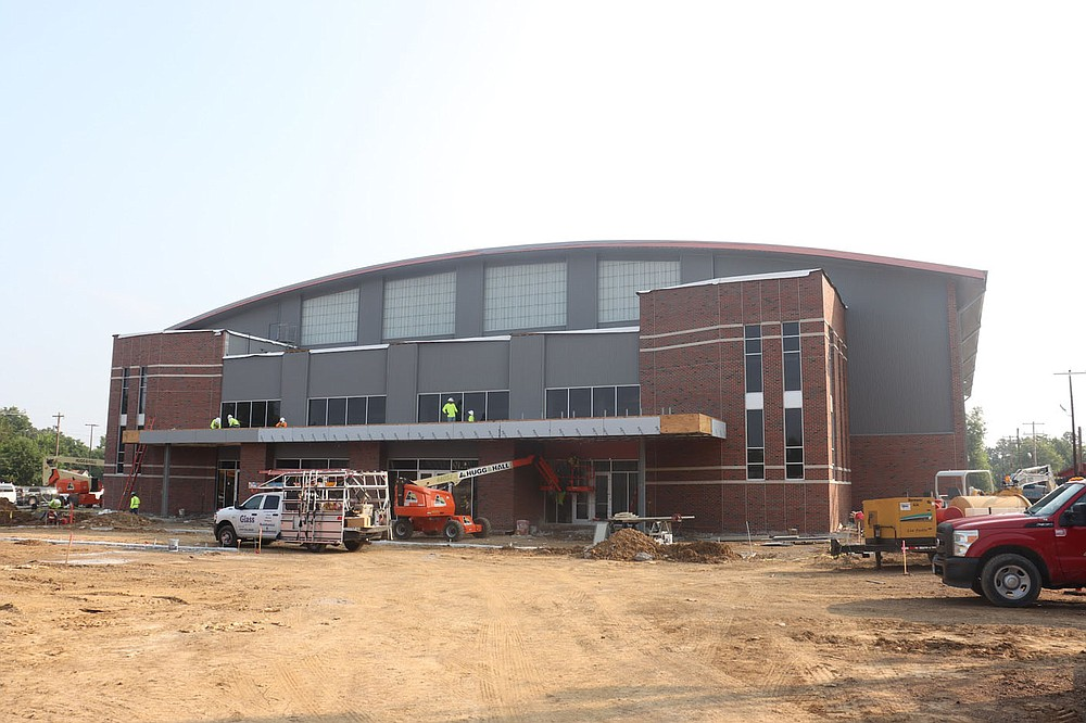 Construction of the new sports arena at Fort Smith Northside should be completed by this fall. The arena will seat 2,300 fans, allowing the school to host state tournaments in Class 6A. Submitted photo Glenn Gilley Fort Smith Public Schools