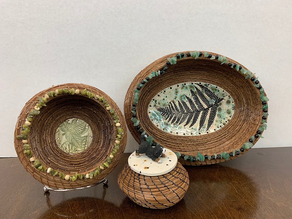 Pine needle basket by Valerie Hanks-Goetz.  - Photo submitted