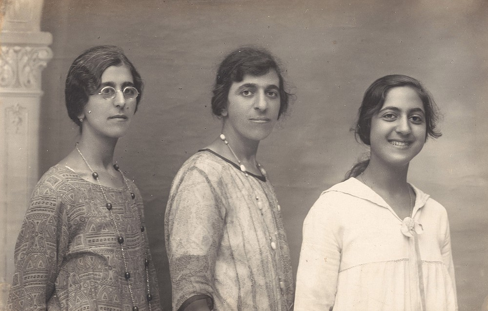 """""""Three Women"""" (c. 1930s) was shot by Karimeh Abbud, the first professional photographer in Palestine. (Courtesy of the Metropolitan Museum of Art)"""