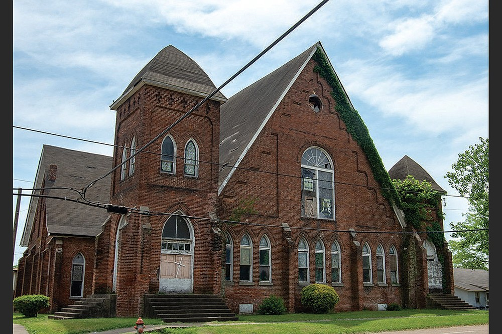 Centennial Baptist Church in Helena-West Helena is shown in this 2018 photo. The Rev. Elias Camp Morris helped design the 1905 Gothic Revival structure with congregant Henry Price. (Democrat-Gazette file photo)