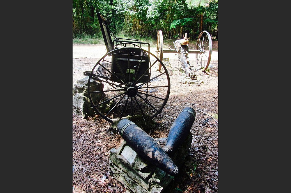 This replica of a smooth-bore Napoleon is like those deployed by the Confederates at the Battle of Marks' Mills. (Special to the Democrat-Gazette/Marcia Schnedler)