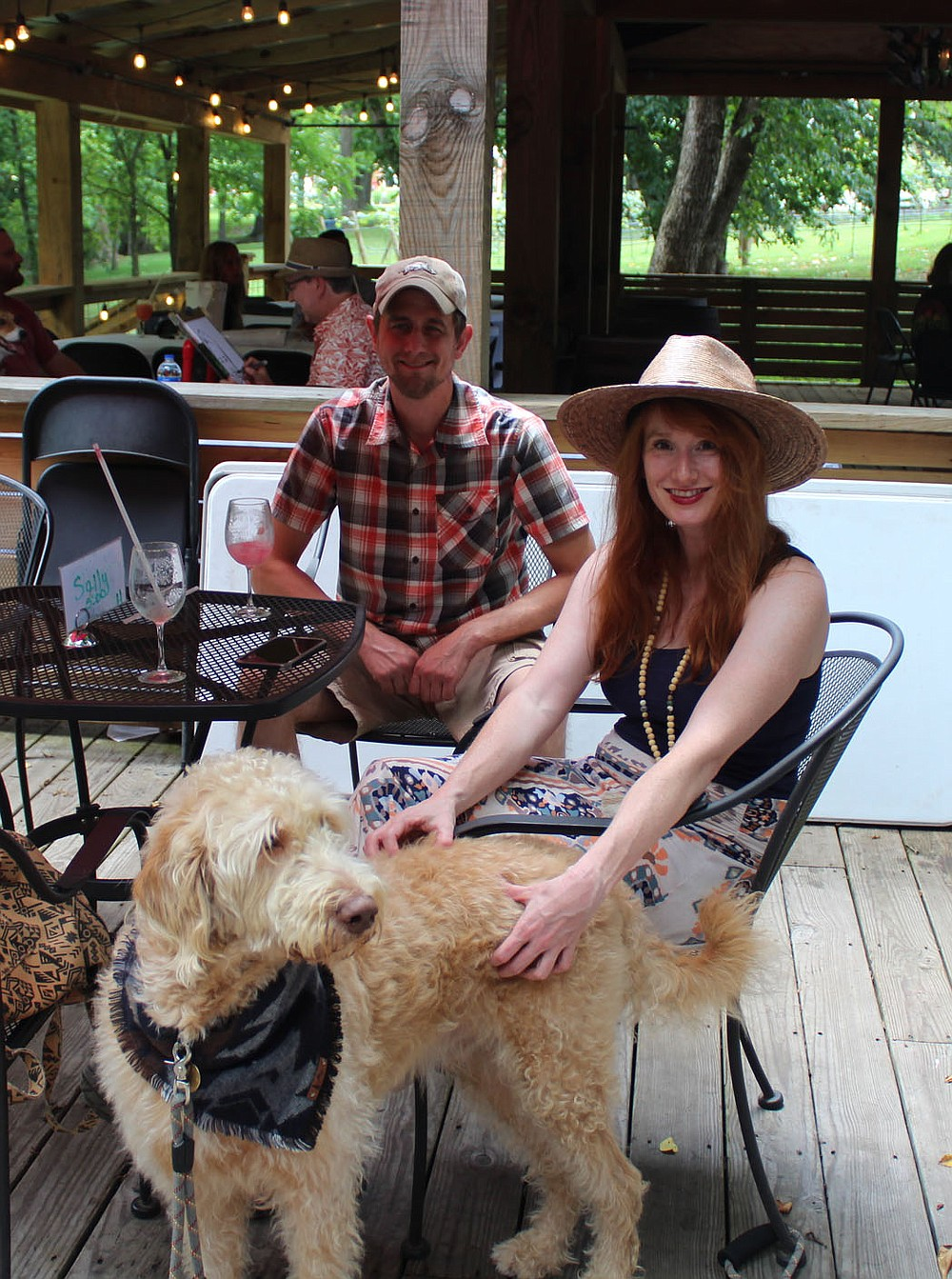 Patrick and Rachel Moss, with Clark, attend Dog Days of Summer.