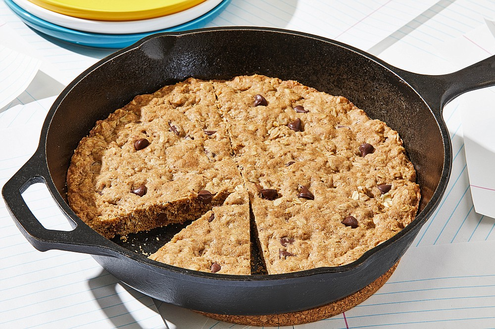 Oatmeal Chocolate Chip Skillet Cookie (For The Washington Post/Tom McCorkle)