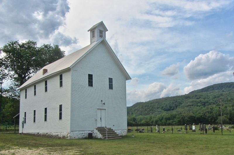 Boxley Baptist Church is a much-photographed site in Boxley Valley Historic District. (Special to the Democrat-Gazette/Marcia Schnedler)